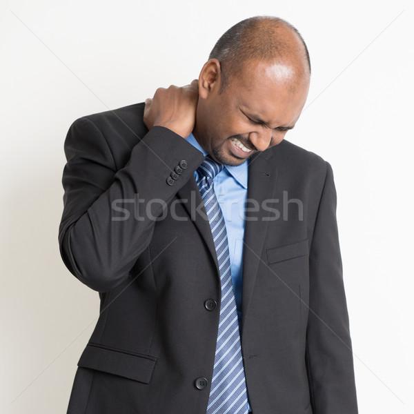Indian schouderpijn zakenman nek Stockfoto © szefei