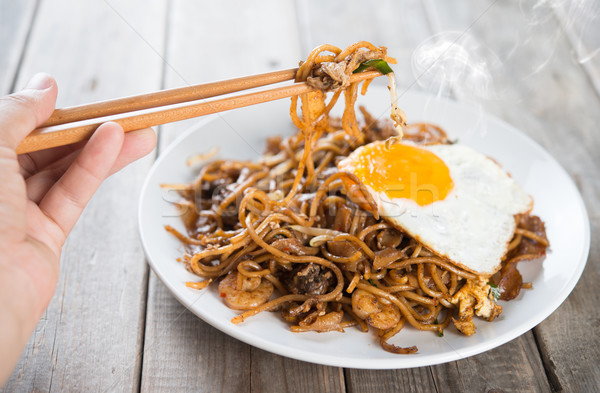 Stir fried Char Kway Teow Stock photo © szefei