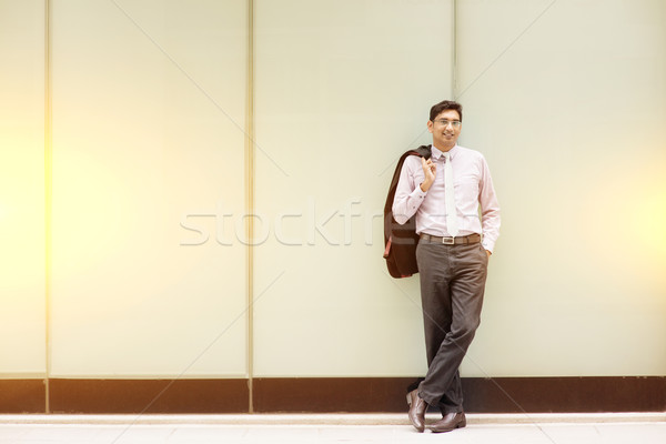 Asian Indian business people full length Stock photo © szefei