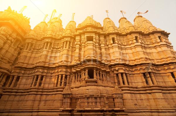 Antigo arenito forte templo dentro dourado Foto stock © szefei