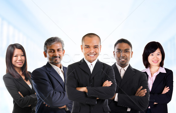 Multiracial Asian business team Stock photo © szefei