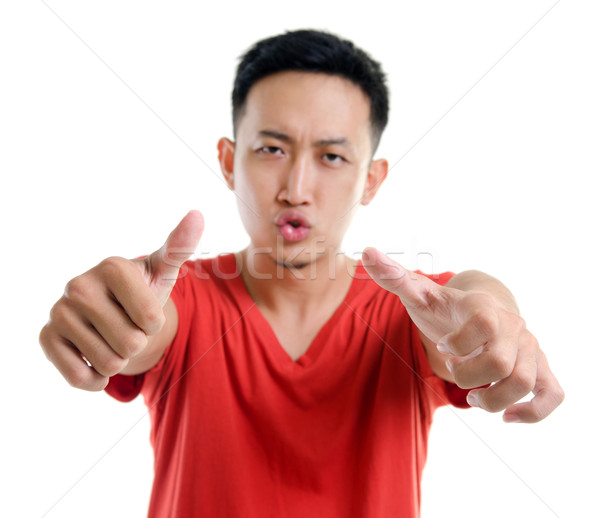 Remek fiatal délkelet ázsiai férfi izolált Stock fotó © szefei