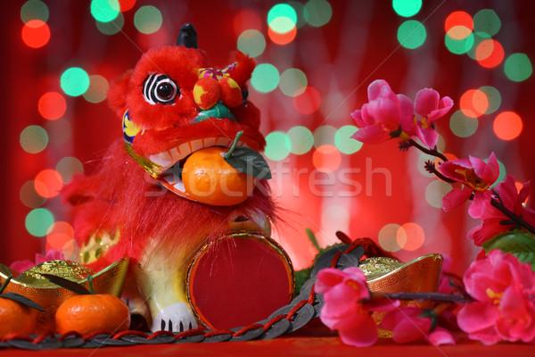 Happy Chinese new year celebrations Stock photo © szefei