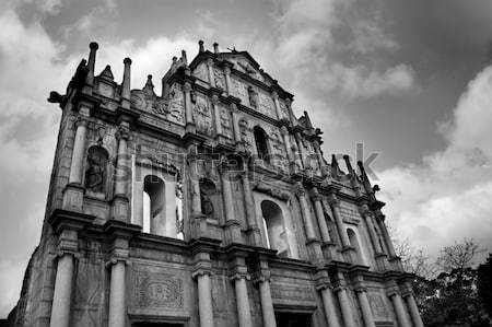 Ruins of St. Paul's in Macau Stock photo © szefei