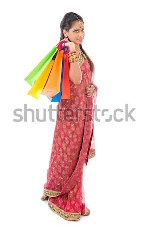 Indian woman shopping Stock photo © szefei