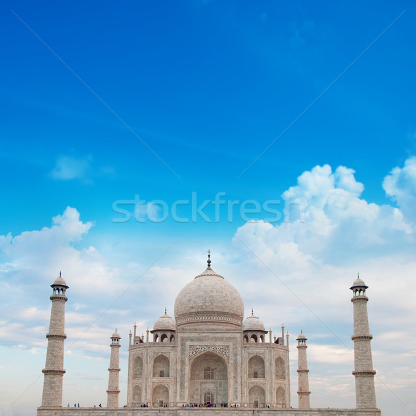 Taj Mahal Agra India with blue sky Stock photo © szefei