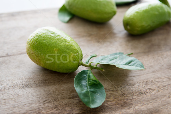 Pesticide free organic green lemons Stock photo © szefei