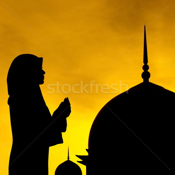 Muslim prayer and mosque Stock photo © szefei