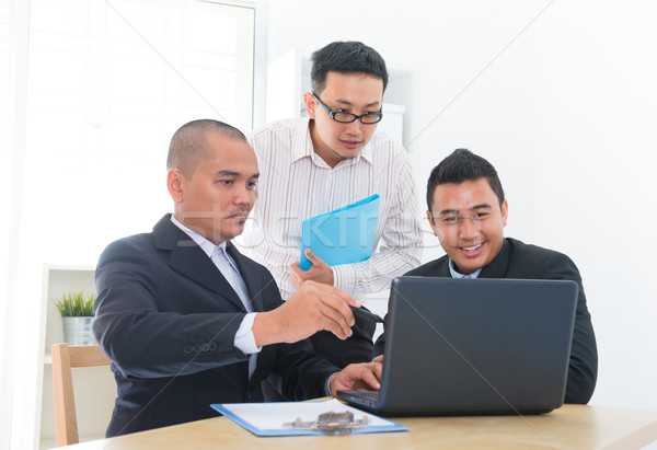 Business team discussion Stock photo © szefei
