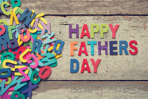HAPPY FATHERS DAY Stock photo © szefei