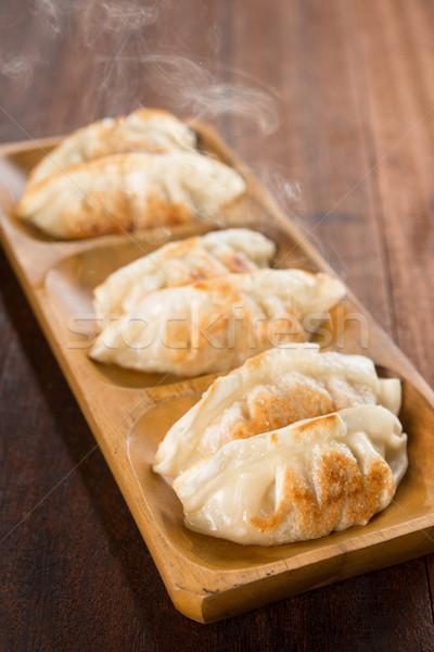 Schaal vers plaat hot aziatische keuken Stockfoto © szefei