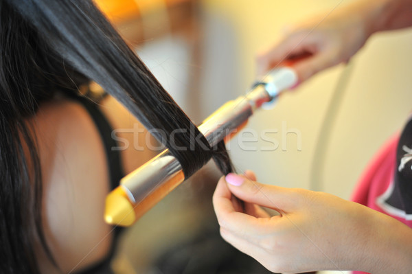 Bride Hairdo Stock photo © szefei