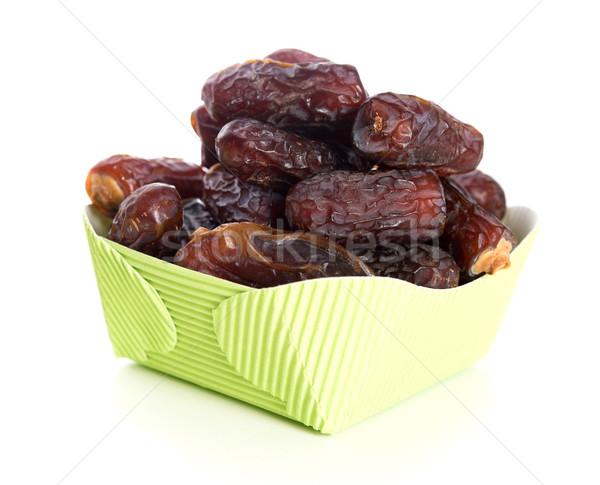Ramadán étel aszalt randevú pálma gyümölcsök Stock fotó © szefei