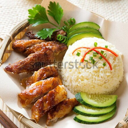 Singapore chicken rice.  Stock photo © szefei