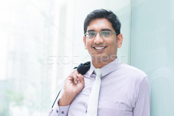 Hint iş adamı modern bina portre gülen Stok fotoğraf © szefei