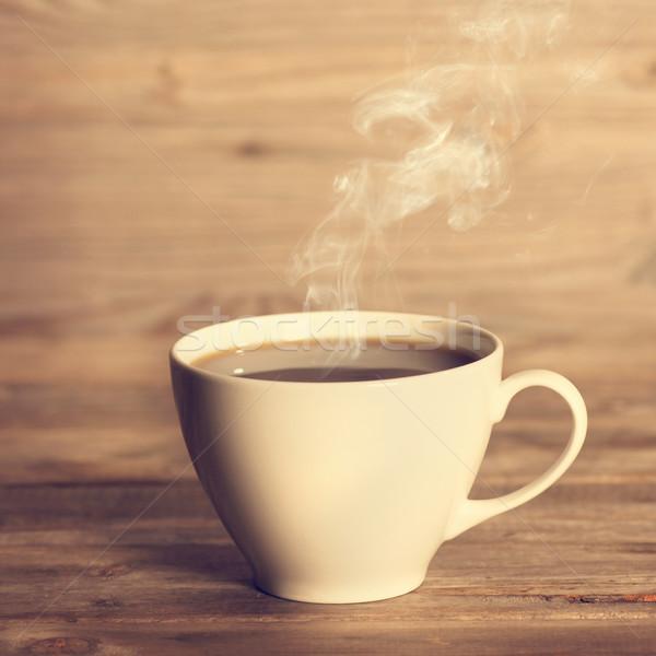 ホット コーヒー 白 カップ ソフト フォーカス ストックフォト © szefei