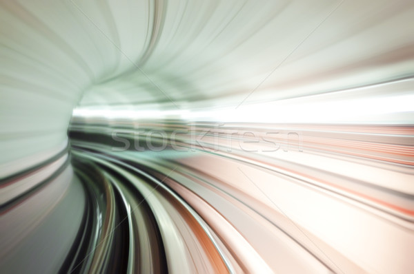 Train tunnel abstract Stock photo © szefei