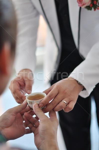 китайский свадьба чай церемония мягкой Focus Сток-фото © szefei