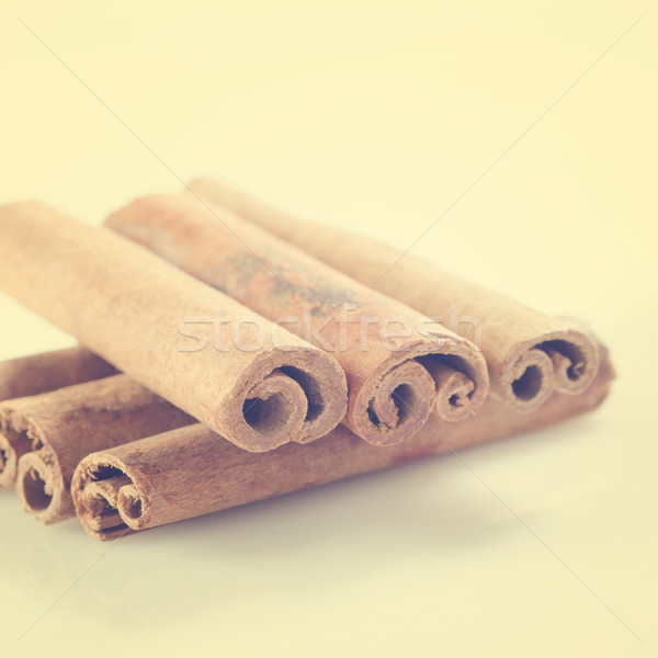 Cinnamon sticks Stock photo © szefei