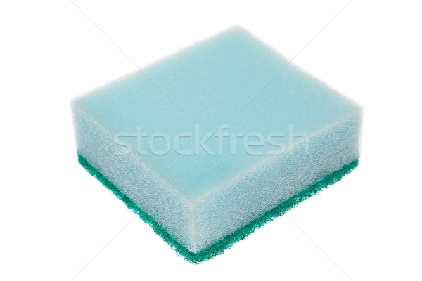 Czyszczenia gąbki odizolowany biały tle kuchnia Zdjęcia stock © szefei