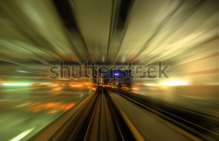 Speedy trains passing train station Stock photo © szefei