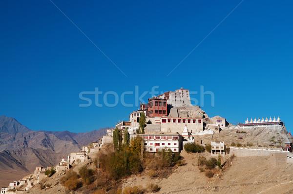 Índia mosteiro blue sky profundo norte natureza Foto stock © szefei