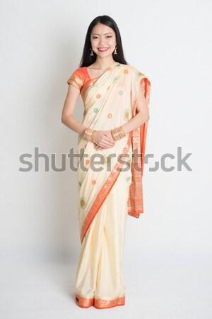 Young woman in Indian sari Stock photo © szefei