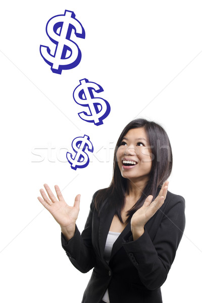 деньги знак падение небе инвестиции Сток-фото © szefei