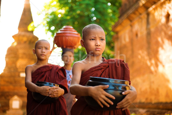 Buddhist monks Myanmar Stock photo © szefei