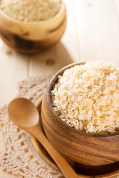 Indië gekookt organisch basmati bruin rijst Stockfoto © szefei