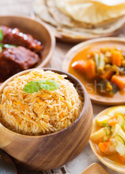 Indian meal biryani rice Stock photo © szefei