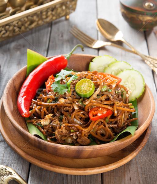 Asian fried noodles Stock photo © szefei