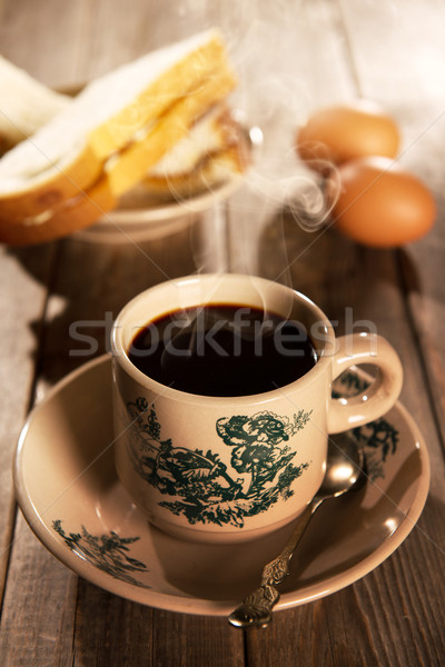 Traditional oriental Chinese coffee and breakfast Stock photo © szefei