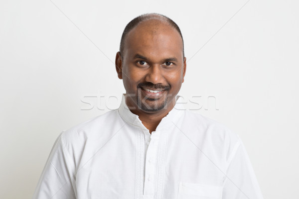 Casual mature Indian people portrait Stock photo © szefei