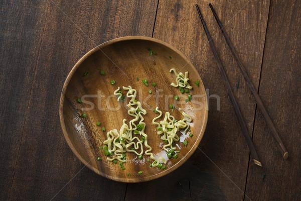 étel tányér felső kilátás japán ramen Stock fotó © szefei