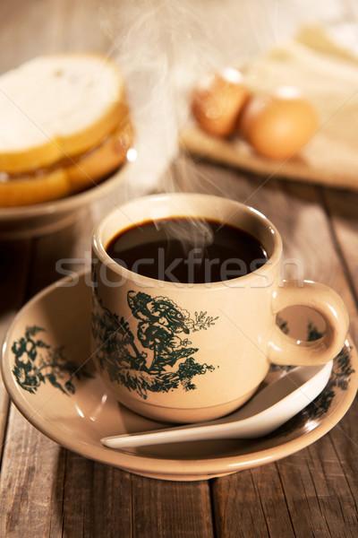 Traditional oriental Hainan coffee and breakfast Stock photo © szefei