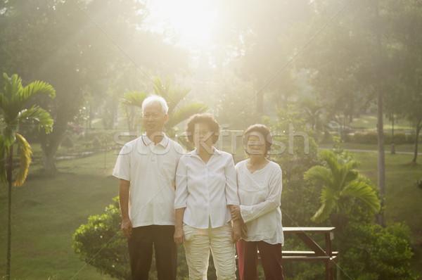 Group of Asian seniors having fun Stock photo © szefei