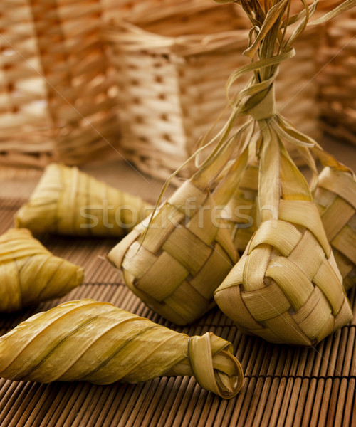 Ketupat or packed rice Stock photo © szefei