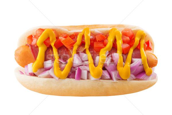 Hot Dog Onions Tomatoes  Stock photo © szefei