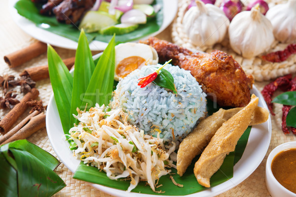Nasi kerabu Stock photo © szefei