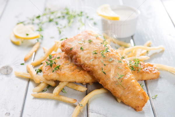 рыбы чипов жареный филе картофель фри Сток-фото © szefei