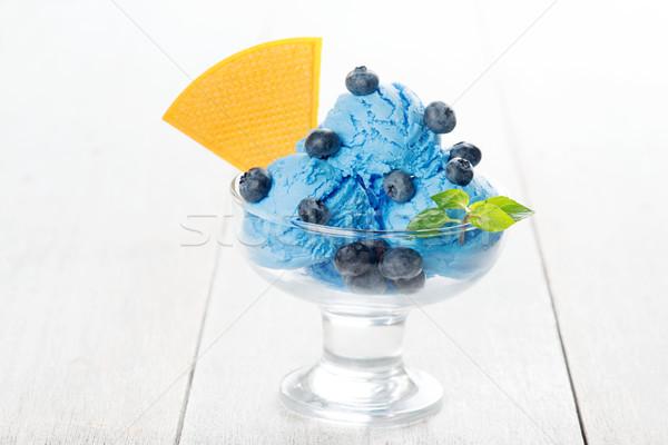 Blueberry ice cream Stock photo © szefei