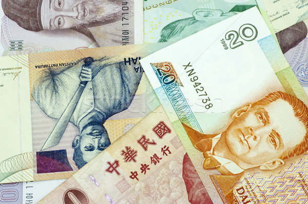 Banknotes of Asian countries. Stock photo © szefei