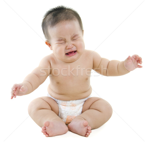 Crying baby boy Stock photo © szefei