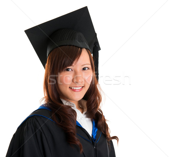 Jeunes asian Homme graduation Photo stock © szefei