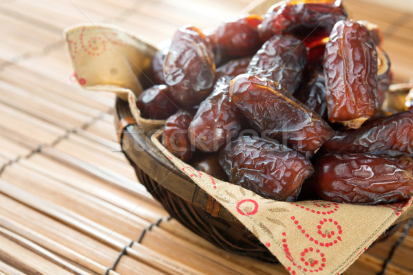 Dried date palm fruits Stock photo © szefei
