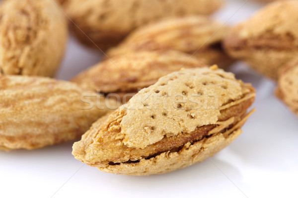 Almonds in shell Stock photo © szefei