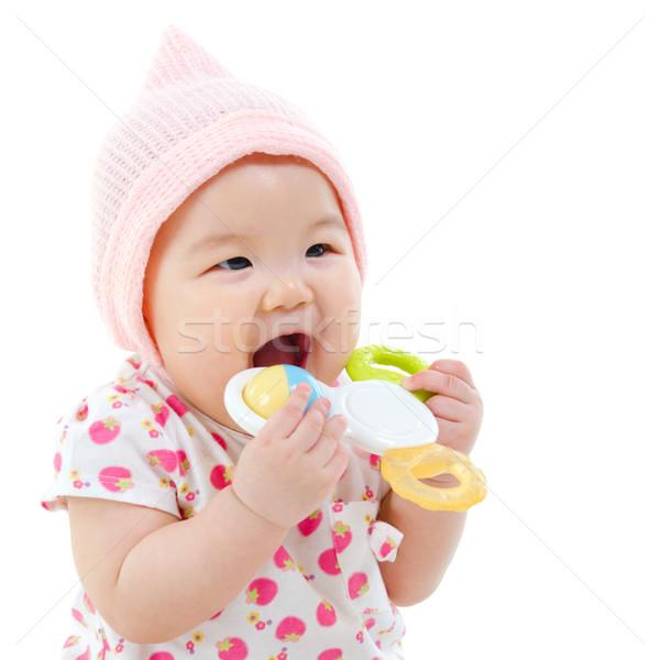 Baby teething Stock photo © szefei