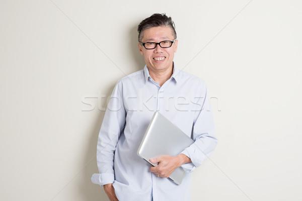 Stockfoto: Volwassen · asian · man · portret · moderne