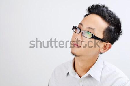 Portret asian mensen zakenman denken naar Stockfoto © szefei